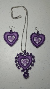 embrpidered heart jewelry
